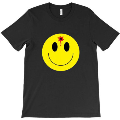 Smiley Face With Bullet Hole T-shirt Designed By Cuser4002
