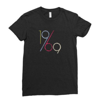 1969 Ladies Fitted T-shirt Designed By Disgus_thing