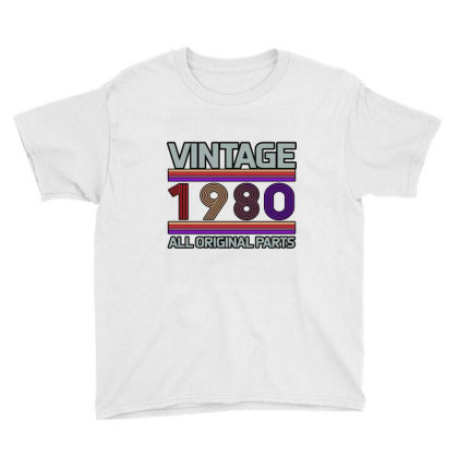 Vintage 1980 Birthday Youth Tee Designed By Bettercallsaul