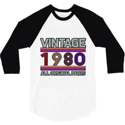 Vintage 1980 Birthday 3/4 Sleeve Shirt Designed By Bettercallsaul