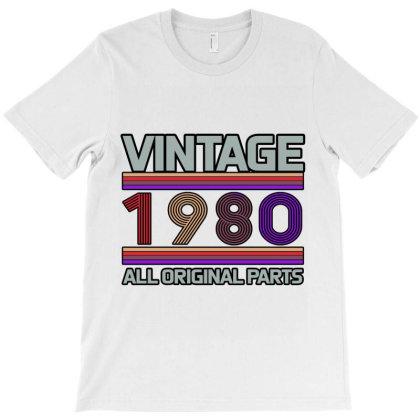 Vintage 1980 Birthday T-shirt Designed By Bettercallsaul
