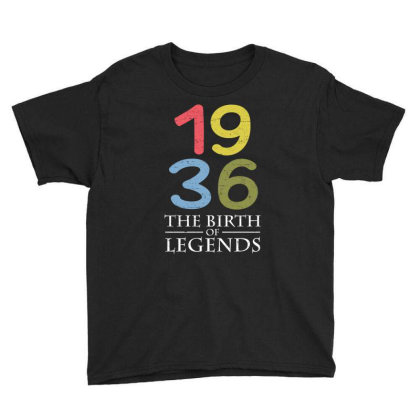 1936 The Birth Of Legends T Shirt Youth Tee Designed By Gnuh79