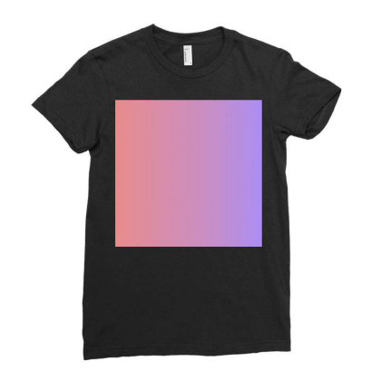 Pink And Purple Colour Combination Art Ladies Fitted T-shirt Designed By American Choice