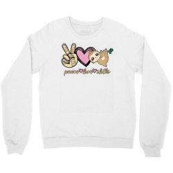 peace love sloths Crewneck Sweatshirt | Artistshot
