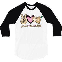 peace love sloths 3/4 Sleeve Shirt | Artistshot