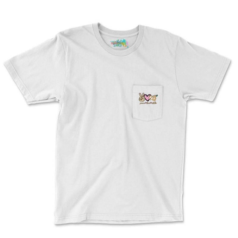 Peace Love Sloths Pocket T-shirt | Artistshot