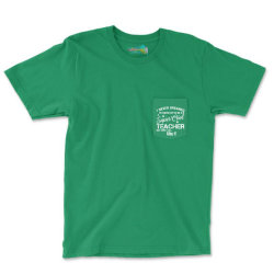 I Never Dreamed Would Grow Up To Be A Super Cool Teacher Pocket T-shirt Designed By Sabriacar
