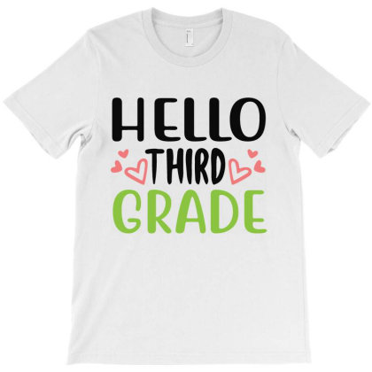 Hello Third Grade T-shirt Designed By Melissa Store
