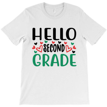 Hello Second Grade T-shirt Designed By Melissa Store