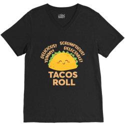 funny tacos roll delicious V-Neck Tee | Artistshot
