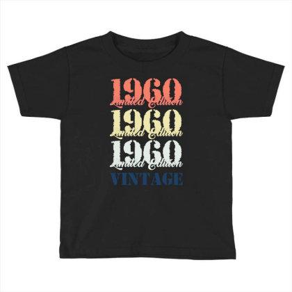 1960 Limited Edition Vintage Toddler T-shirt Designed By Ashlıcar