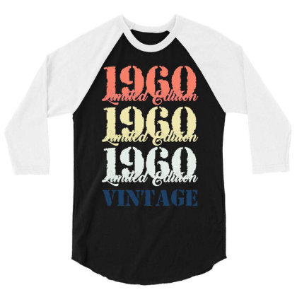 1960 Limited Edition Vintage 3/4 Sleeve Shirt Designed By Iconshop