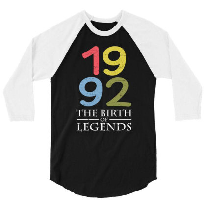 1992 The Birth Of Legends T Shirt 3/4 Sleeve Shirt Designed By Gnuh79