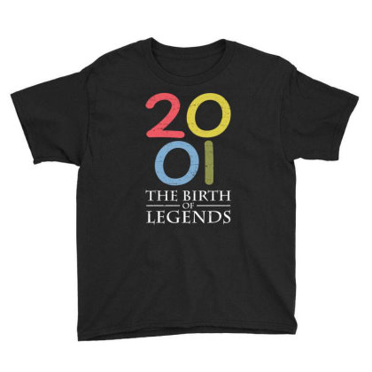 2001 The Birth Of Legends T Shirt Youth Tee Designed By Gnuh79
