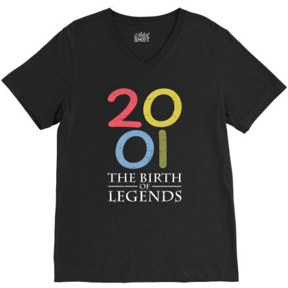 2001 The Birth Of Legends T Shirt V-neck Tee Designed By Gnuh79