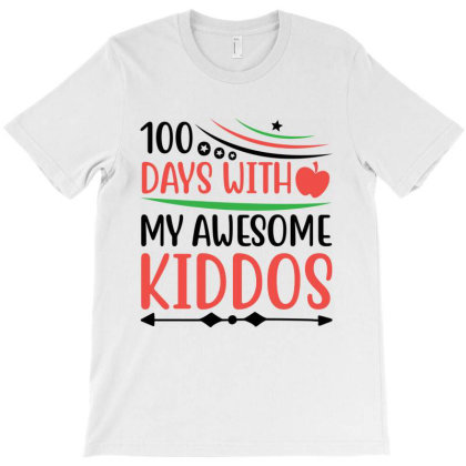 100 Days With My Awesome Kiddos T-shirt Designed By Melissa Store