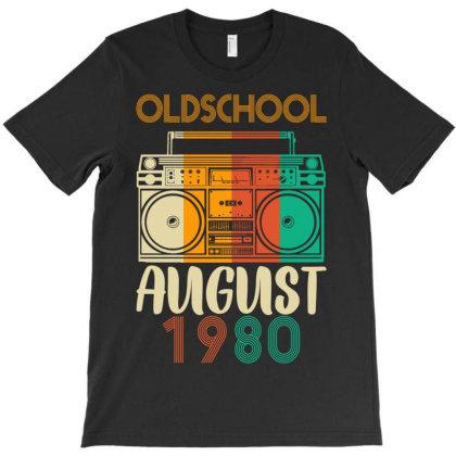Old School August 1980 T-shirt Designed By Badaudesign
