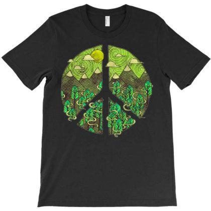 Peaceful Landscape T-shirt Designed By Badaudesign
