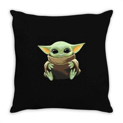 Baby Yoda Throw Pillow Designed By Kakashop