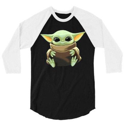 Baby Yoda 3/4 Sleeve Shirt Designed By Kakashop