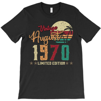 Vintage August 1970 Limited Edition T-shirt Designed By Badaudesign