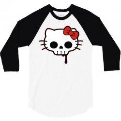 skull kitty 3/4 Sleeve Shirt | Artistshot