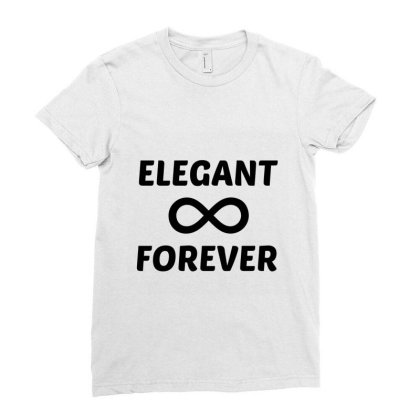 Elegant Forever Ladies Fitted T-shirt Designed By Perfect Designers