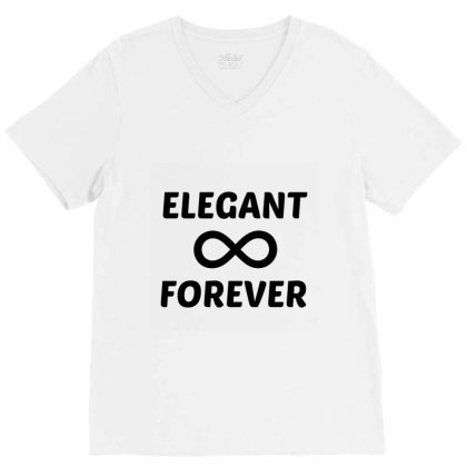 Elegant Forever V-neck Tee Designed By Perfect Designers