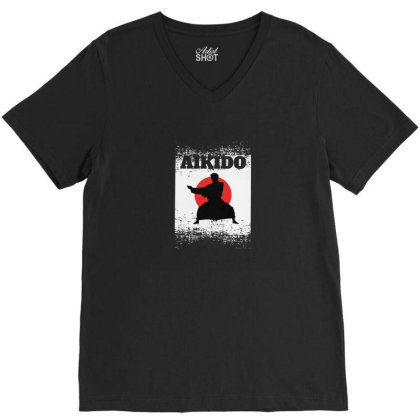 Aikido V-neck Tee Designed By Disgus_thing