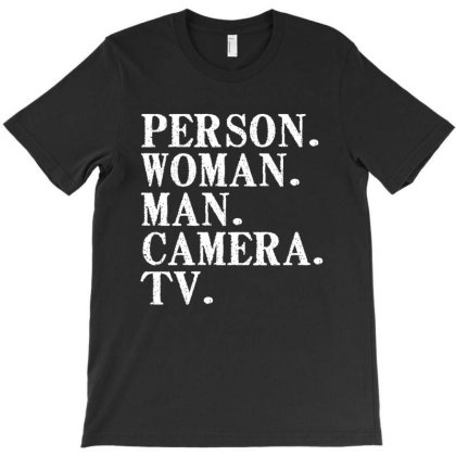 Person Woman Man Camera Tv T-shirt Designed By Faical