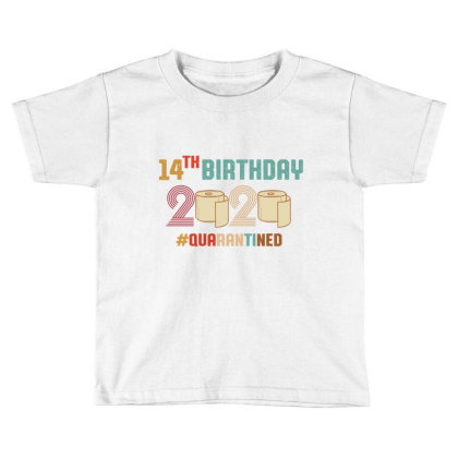 14th Birthday Quarantine Retro Vintage Toddler T-shirt Designed By Vip.pro123