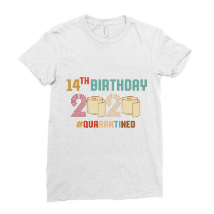 14th Birthday Quarantine Retro Vintage Ladies Fitted T-shirt Designed By Vip.pro123