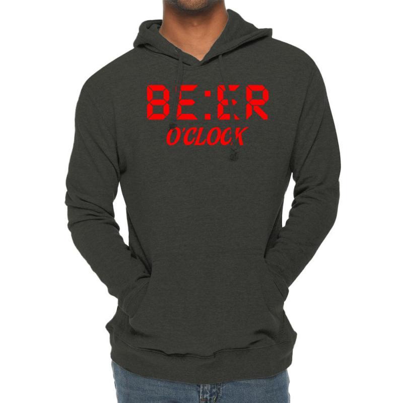 Beer O'clock Lightweight Hoodie   Artistshot