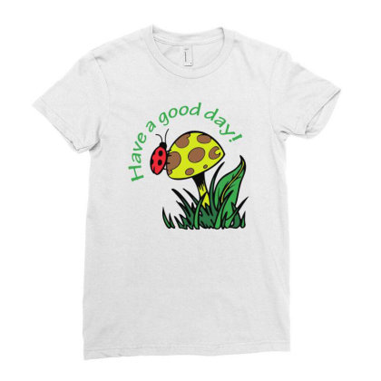 Have A Good Dad Lady Bug Funny Ladies Fitted T-shirt Designed By Rusmashirt