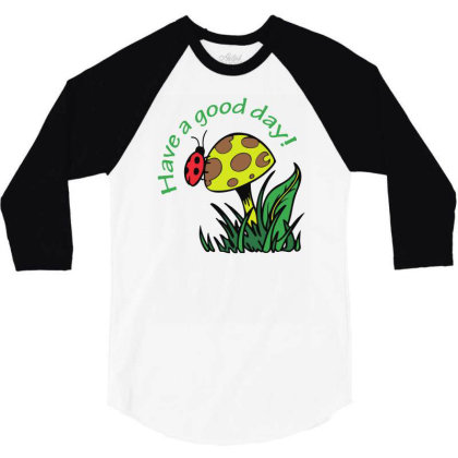 Have A Good Dad Lady Bug Funny 3/4 Sleeve Shirt Designed By Rusmashirt
