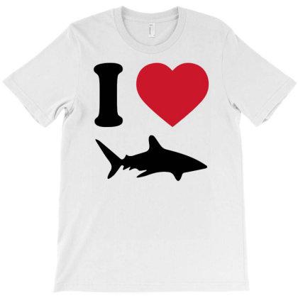 I Love Shark Funny T-shirt Designed By Rusmashirt