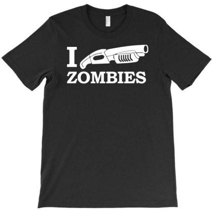 I Shotgun Zombies Funny T-shirt Designed By Rusmashirt