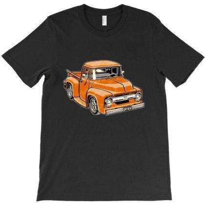 1956 F100 Pickup Truck Cartoon T-shirt Designed By H4ikal