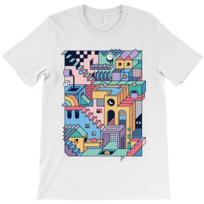 90s Escher T-shirt Designed By Feelgood Tees