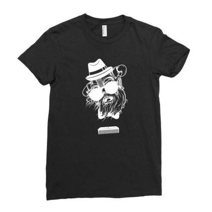 Comb Skull New Ladies Fitted T-shirt Designed By H4ikal