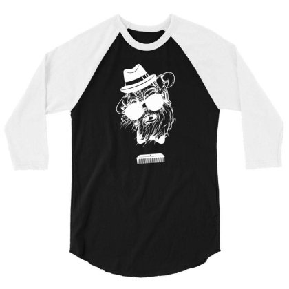 Comb Skull New 3/4 Sleeve Shirt Designed By H4ikal