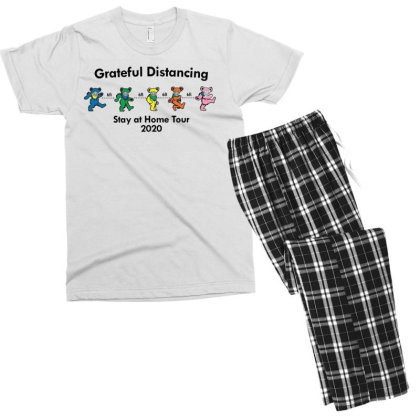 Grateful Distancing Stay At Home Tour 2020 Men's T-shirt Pajama Set Designed By Cuser3772