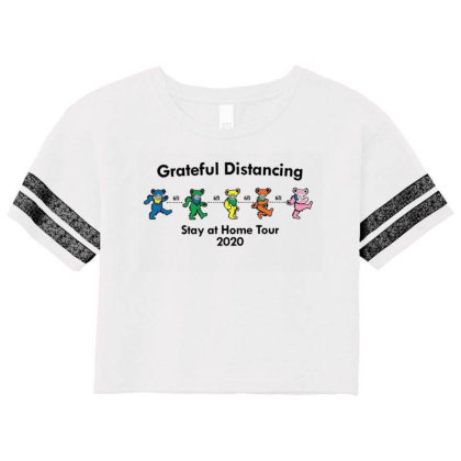 Grateful Distancing  Stay At Home Tour 2020 Scorecard Crop Tee Designed By Cuser3143