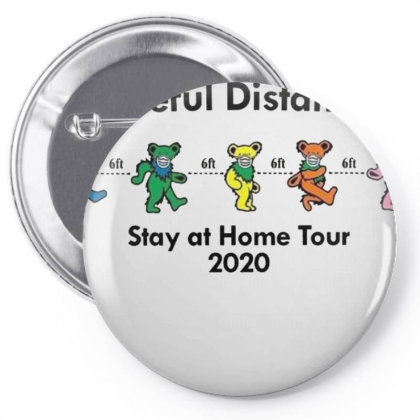 Grateful Distancing  Stay At Home Tour 2020 Pin-back Button Designed By Cuser3143