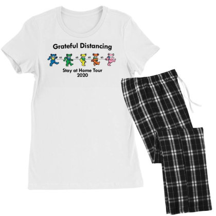Grateful Distancing  Stay At Home Tour 2020 Women's Pajamas Set Designed By Cuser3143