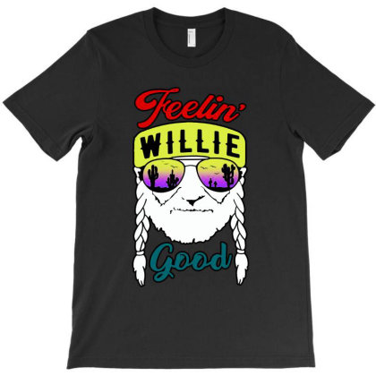 Feeling Good Willie T-shirt Designed By Feelgood Tees