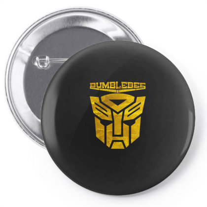 Golden Bumblebee Transformer Pin-back Button Designed By Feelgood Tees