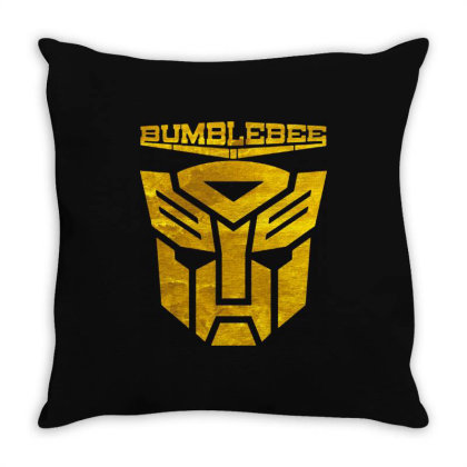 Golden Bumblebee Transformer Throw Pillow Designed By Feelgood Tees