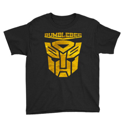 Golden Bumblebee Transformer Youth Tee Designed By Feelgood Tees
