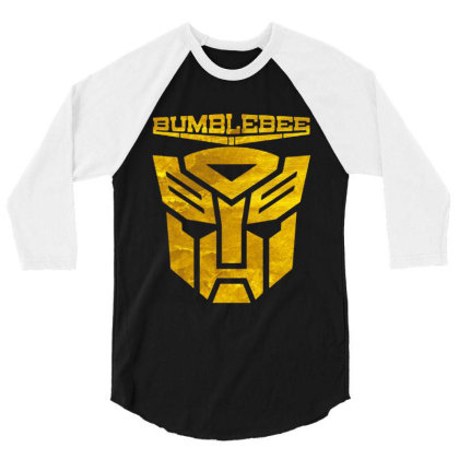 Golden Bumblebee Transformer 3/4 Sleeve Shirt Designed By Feelgood Tees